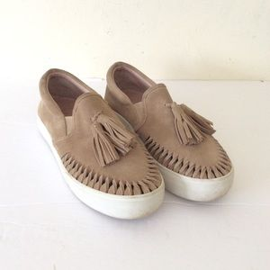 J Slide Tassel Sneakers Size 8 - Used